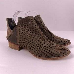 Vince Camuto Perfurated Ankle Booties Taupe